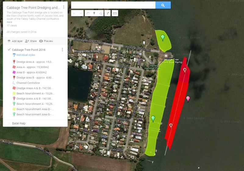 Cabbage Tree Point - Google Maps Link