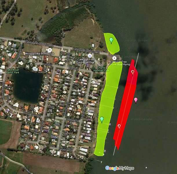 Cabbage Tree Point Dredging - Google Map