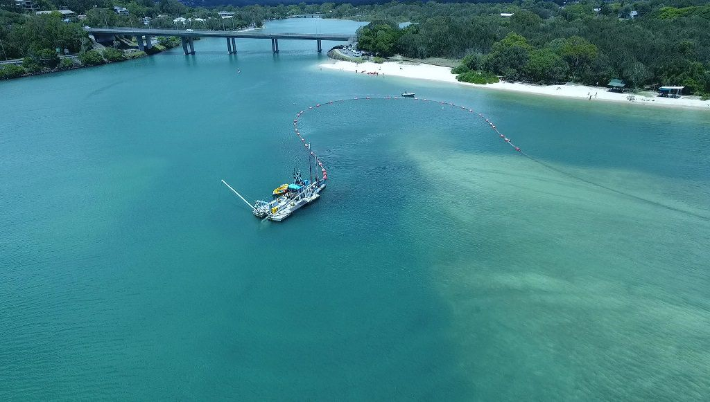 Dredging all wrapped up in Currumbin Creek