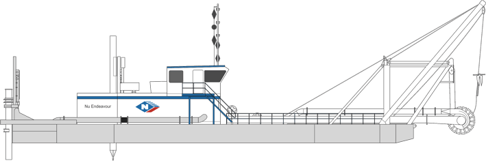 Dredge 6 - Nu Endeavour Cutter Suction Dredge