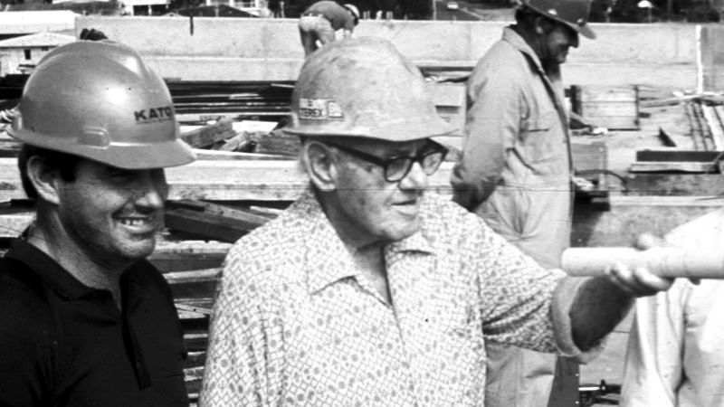 Alfred Neumann on a Construction Site