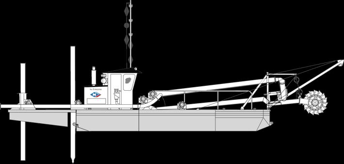 dredfge 9 Nu Enterprise Cutter Suction Dredge