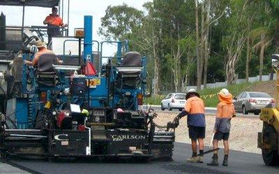 Bribie Island Road Works Banner