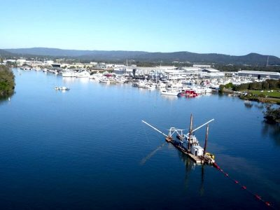 Coomera River Maintenance Dredging - From Air